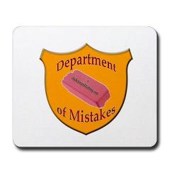 department of mistakes mousepad